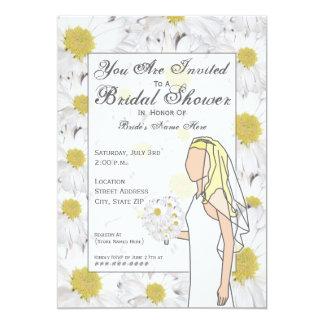 Daisy Bridal Shower Invitation - Blonde Hair