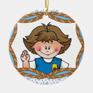 Daisy Brunette Ceramic Ornament