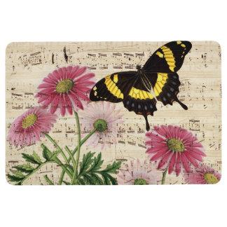 Daisy Butterfly Music Floor Mat