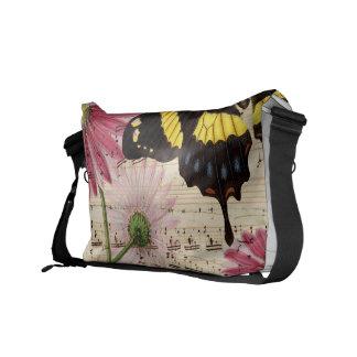 Daisy Butterfly Music Messenger Bag