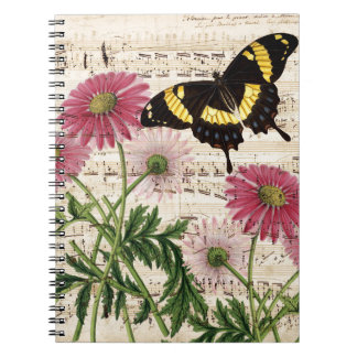 daisy Butterfly Music Notebook