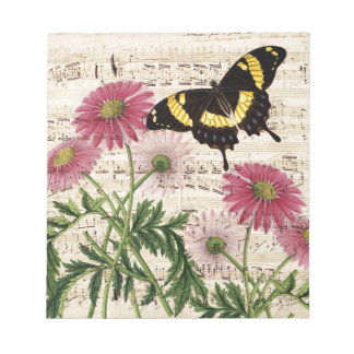 daisy Butterfly Music Notepad
