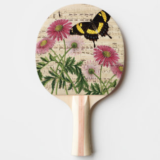 Daisy Butterfly Music Ping Pong Paddle