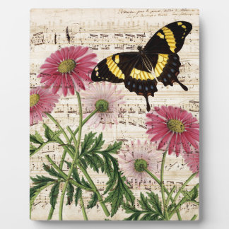 daisy Butterfly Music Plaque