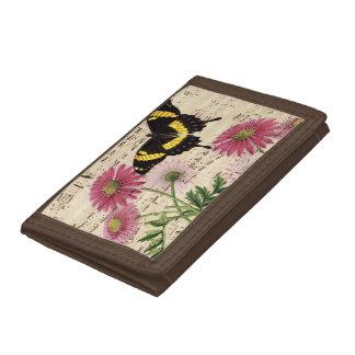 Daisy Butterfly Music Tri-fold Wallet