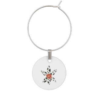 Daisy Cow Wine Charm