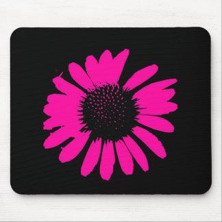 """Daisy Crazy"" - Hot Pink Daisy Mouse Pad"
