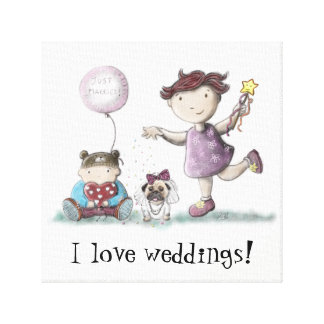 Daisy Cupcake Wedding! Canvas Print