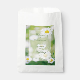 Daisy Daisies Flower Floral Summer Wedding Favour Bag
