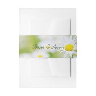 Daisy Daisies Flower Floral Summer Wedding Invitation Belly Band