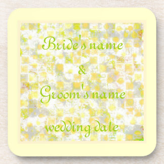 Daisy Daisy Wedding Drink Coaster