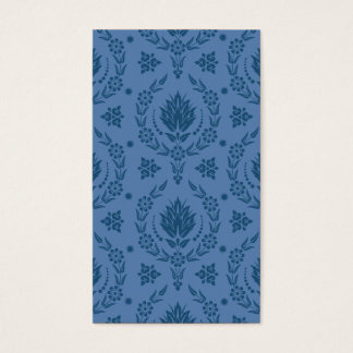 Daisy Damask, Bamboo in Shades of Blue