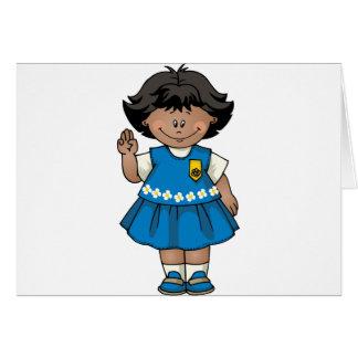Daisy Dark Skin Greeting Card