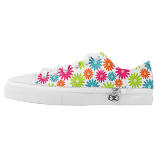 Daisy Days Floral Lace Up Casual Walking Shoes