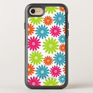 Daisy Days Neon Floral Pattern OtterBox Symmetry iPhone 8/7 Case