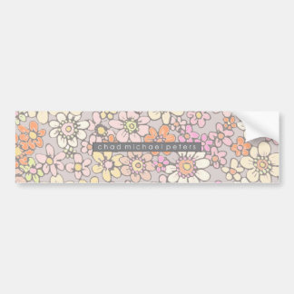 Daisy Doodle Bumper Sticker