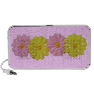 Daisy Doodle - Pink Travel Speakers