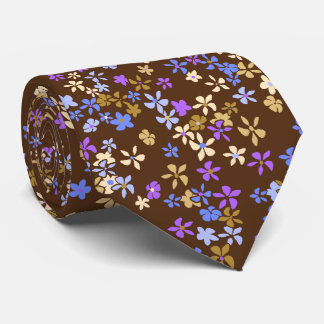 Daisy Dot Floral Two-sided Printed Tie