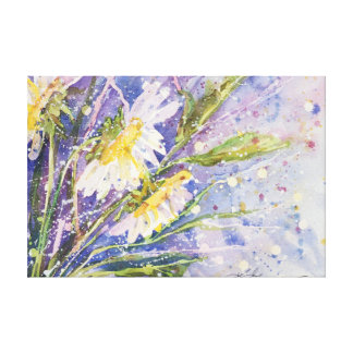 Daisy Dream watercolor by Kathleen Gasparin Canvas Print