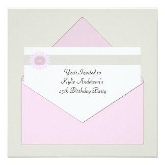 Daisy Envelope - Birthday Party Invitation