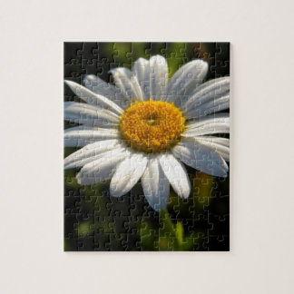 Daisy Face Green Jigsaw Puzzle