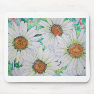Daisy Field Watercolor Painting Mouse Pads
