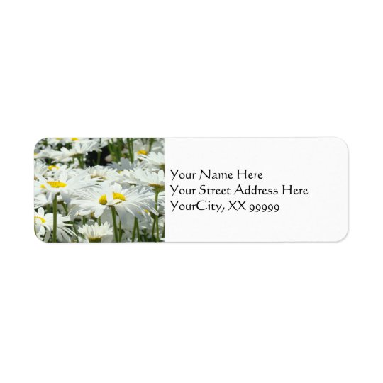 Daisy Floral Address Labels custom Daisies
