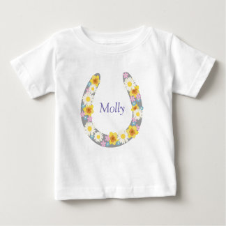 Daisy Floral Horse Shoe Garment Baby T-Shirt