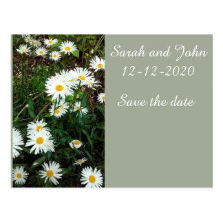 Daisy Floral wedding invitation Save the Date Card Postcard