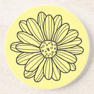 Daisy Flower Beverage Coaster