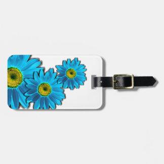 Daisy Flower blue Luggage Tag