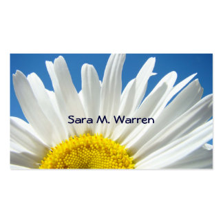 Daisy Flower Business Cards White Yellow Blue