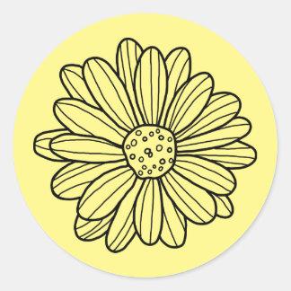 Daisy Flower Classic Round Sticker
