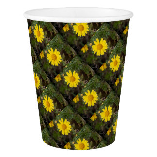 Daisy flower cu yellow paper cup