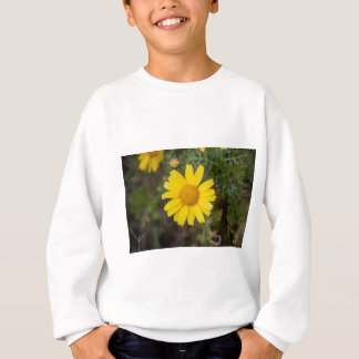 Daisy flower cu yellow sweatshirt
