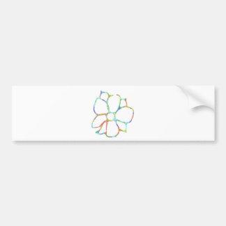 Daisy flower design car bumper sticker