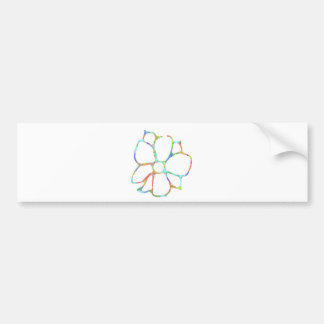 Daisy flower design bumper sticker