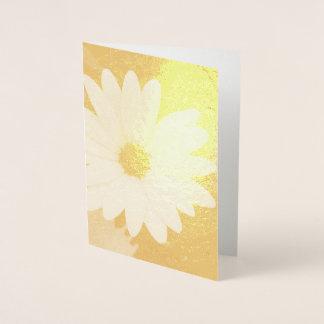 Daisy Flower Foil Card