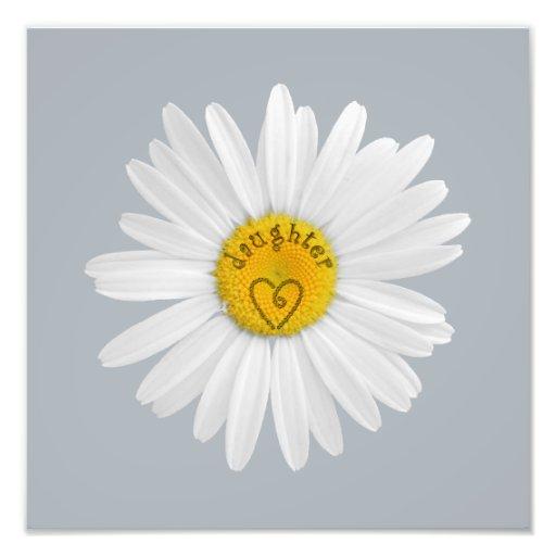 Daisy Flower For Daughter Art Customize Background Art Photo
