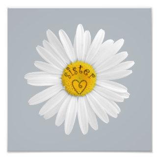 Daisy Flower For Sister Art Customize Background Photo Art