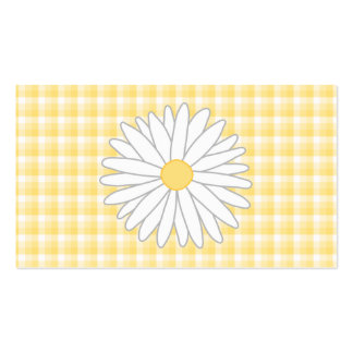 Daisy Flower in Yellow and White. Pack Of Standard Business Cards