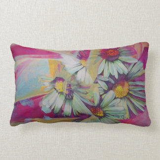 Daisy Flower Painting Throw Pillow