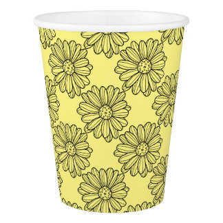 Daisy Flower Paper Cup