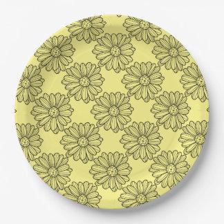 Daisy Flower Paper Plate
