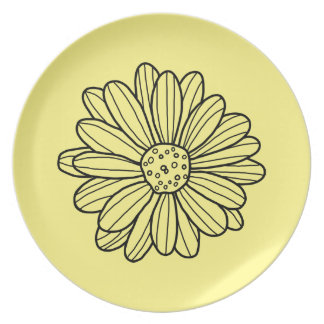 Daisy Flower Plate