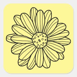 Daisy Flower Square Sticker