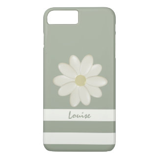 Daisy Flower Stripes Personalised iPhone 7 Plus iPhone 7 Plus Case