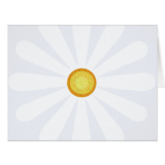 Daisy flower with yellow centre card