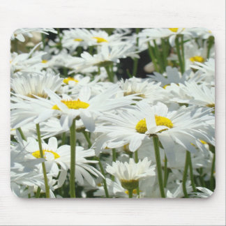 Daisy Flowers mousepads Floral White Daisies gifts