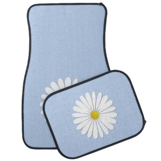 Daisy Flowers, Petals, Blossoms - White Yellow Car Mat
